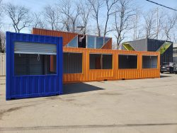 Shipping container modification store