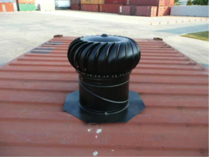 Container modifications rooftop turbine