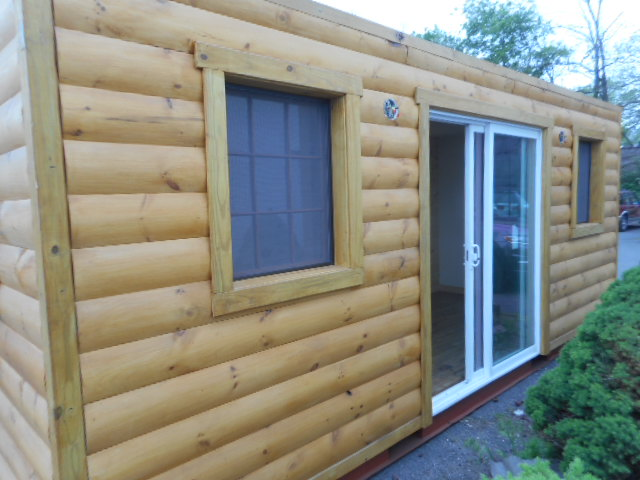Log Cabin Shipping Container tiny home