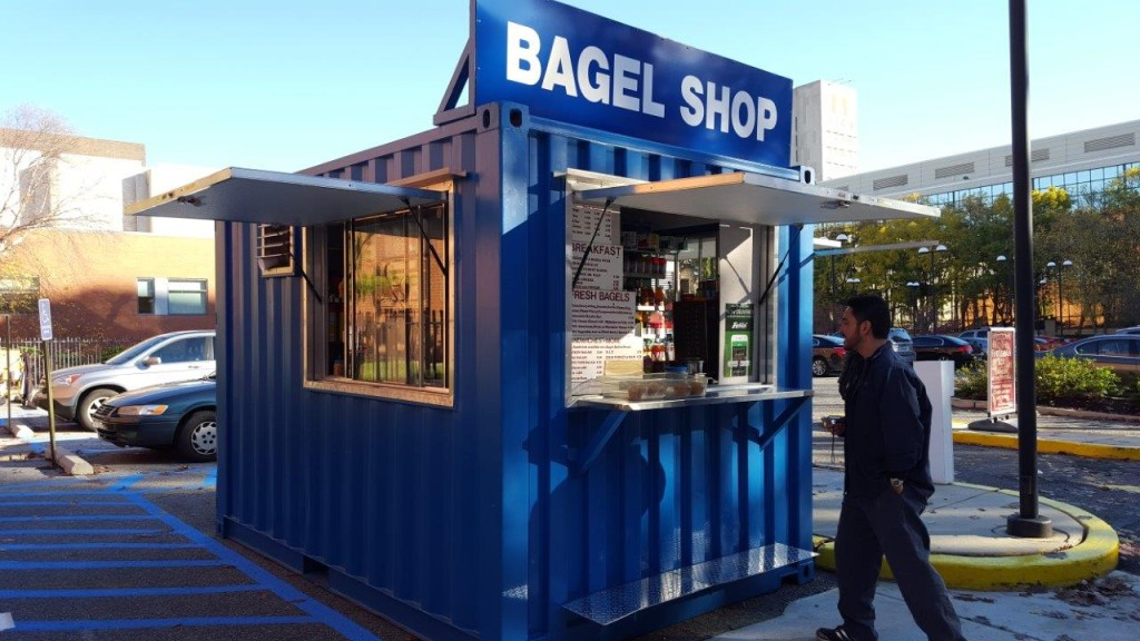 Shipping Container concession stand bagel shop