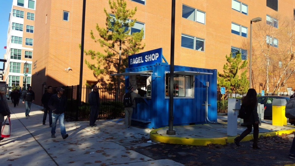 Shipping Container pop up bagel shop