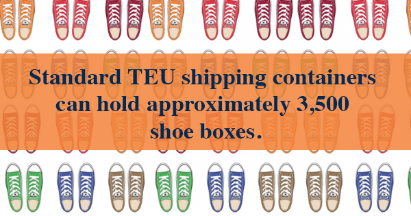 Standard TEU Shipping containers