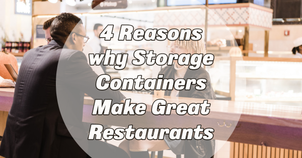 Storage Containers as restaurants