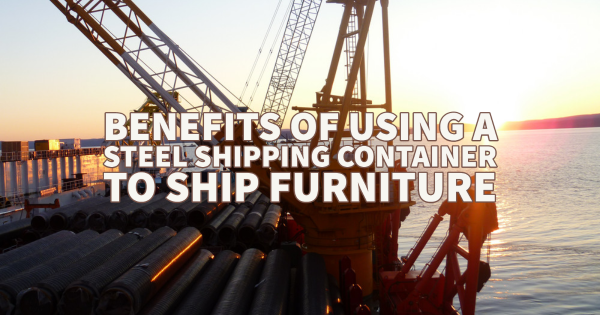 Steel shipping container to ship furniture